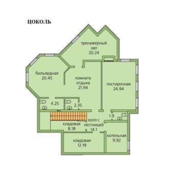Дом под отделку в Грин Хилл площадью 401 м2 (фото - 4)