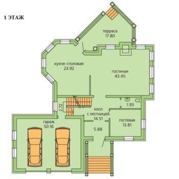 Дом под отделку в Грин Хилл площадью 401 м2 (фото - 3)